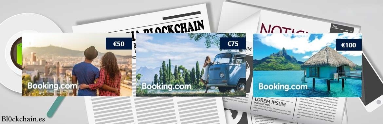 pagar viaje con bitcoin booking 50, 75 y 100