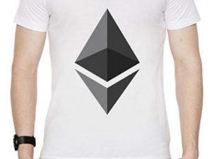 camiseta de ethereum blanca